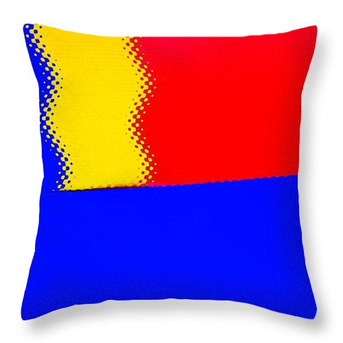 Modern Art Throw Pillow featuring the photograph New Flag by Sal Ovadia
