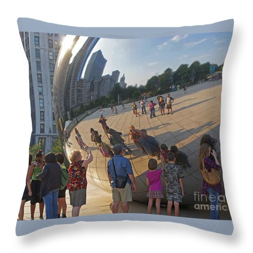Chicago Throw Pillow featuring the photograph Photographers All by Ann Horn
