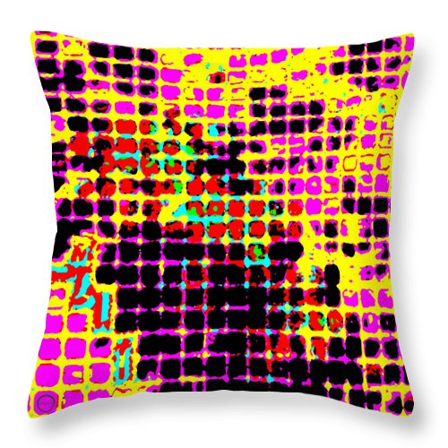 Square Throw Pillow featuring the digital art Photonic Lattice by Eikoni Images