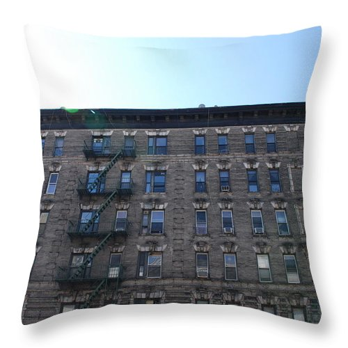 Architecture Throw Pillow featuring the photograph Physical Graffitti by Rob Hans