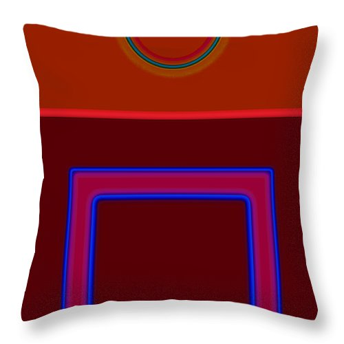 Classical Throw Pillow featuring the painting Piazza by Charles Stuart