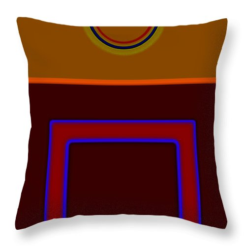 Classical Throw Pillow featuring the painting Piazza Fall by Charles Stuart