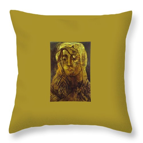 Tattoo Throw Pillow featuring the digital art picabia33 Francis Picabia by Eloisa Mannion
