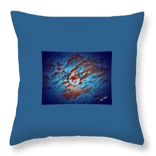 Digital Art Throw Pillow featuring the photograph Picasso's Moon by Wild Thing