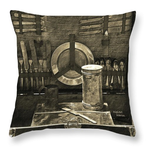 Picnic Throw Pillow featuring the digital art Picnic Pastime by DigiArt Diaries by Vicky B Fuller
