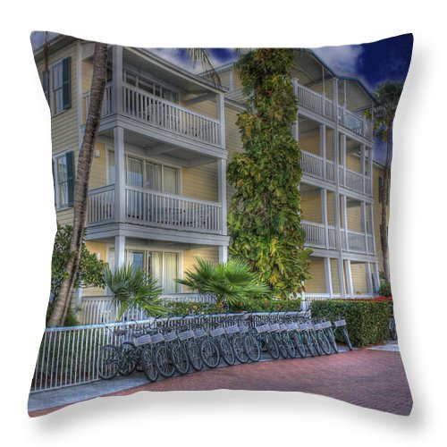 Key West Throw Pillow featuring the photograph Pier B by Shelley Neff