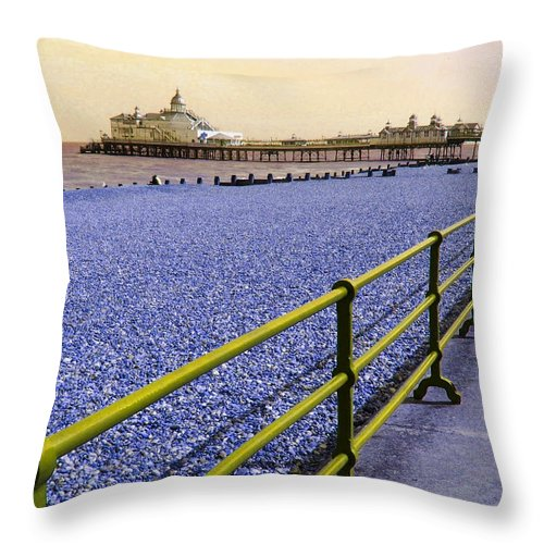 Pier Throw Pillow featuring the photograph Pier View England by Heather Lennox