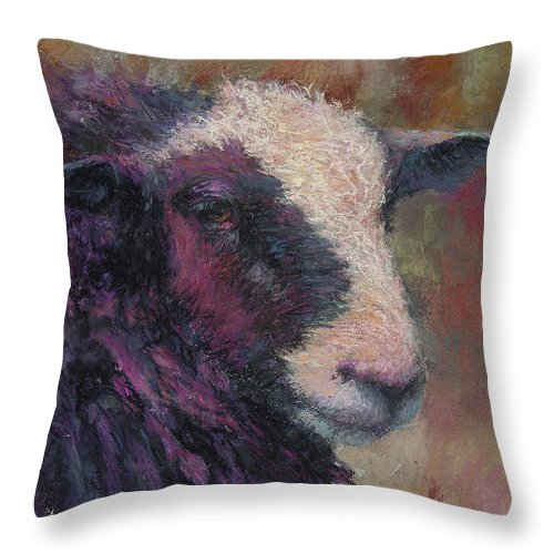Animals Throw Pillow featuring the painting Pierre by Susan Williamson