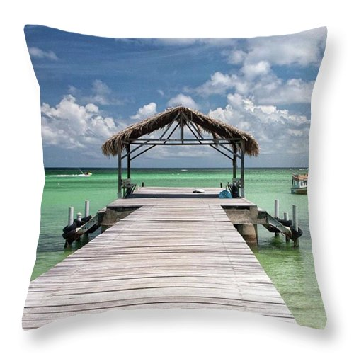Beautiful Throw Pillow featuring the photograph Pigeon Point, Tobago#pigeonpoint by John Edwards