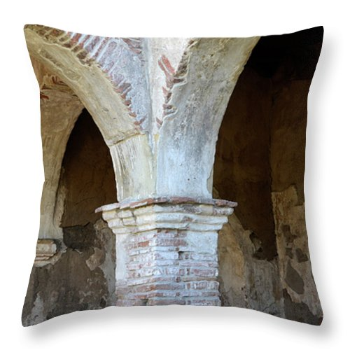 Architecture Throw Pillow featuring the photograph Pillars by Bob Christopher