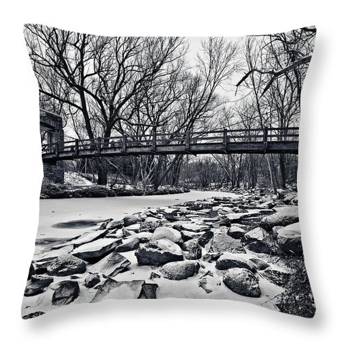 Canon Ef 17-40mm F/4.0 L Usm Throw Pillow featuring the photograph Pillars On The Shore by CJ Schmit