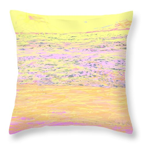 Seascape Throw Pillow featuring the photograph Pineapple Sunset by Ian MacDonald