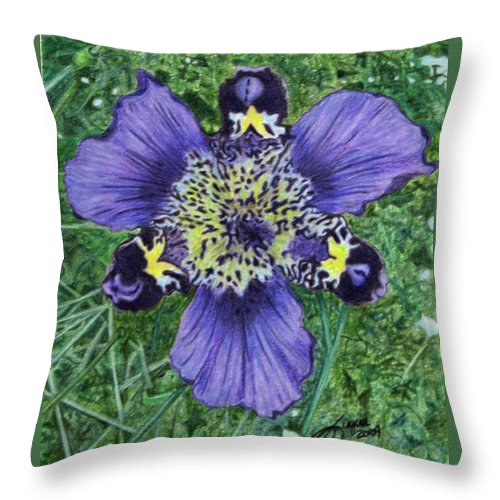 Fuqua - Artwork Throw Pillow featuring the drawing Pinewoods Lily by Beverly Fuqua