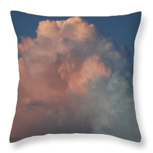 Clouds Throw Pillow featuring the photograph Pink And Grey by Rob Hans