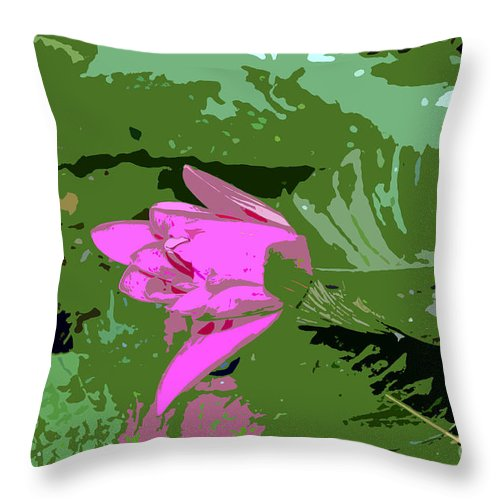 Beautiful Throw Pillow featuring the photograph Pink Beauty Work Number 8 by David Lee Thompson