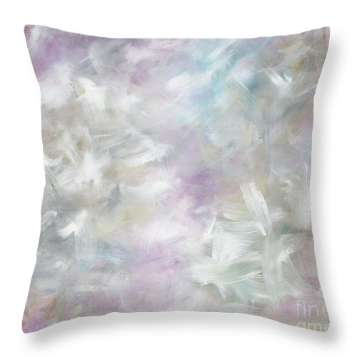 Pink Throw Pillow featuring the painting Pink Cloud by Nadine Rippelmeyer