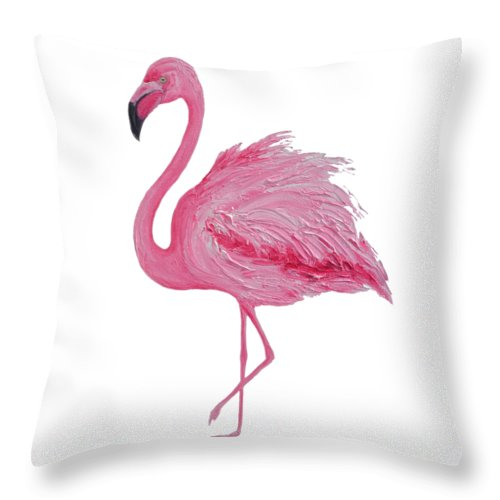 Pink Flamingo Throw Pillow For Sale By Jan Matson