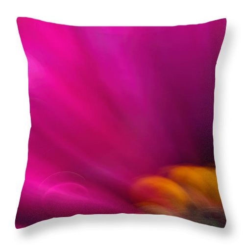 Flower Throw Pillow featuring the photograph Pink Flower by Silke Magino