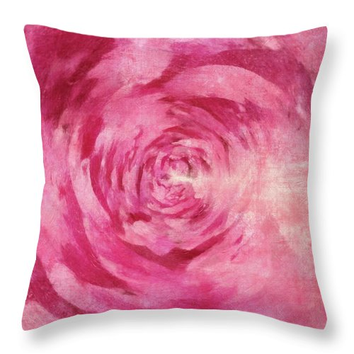 Flowers Throw Pillow featuring the painting Pink Lady 1 by Jamie Holbrook
