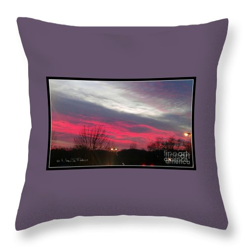 Pink Throw Pillow featuring the photograph Pink Night by MaryLee Parker