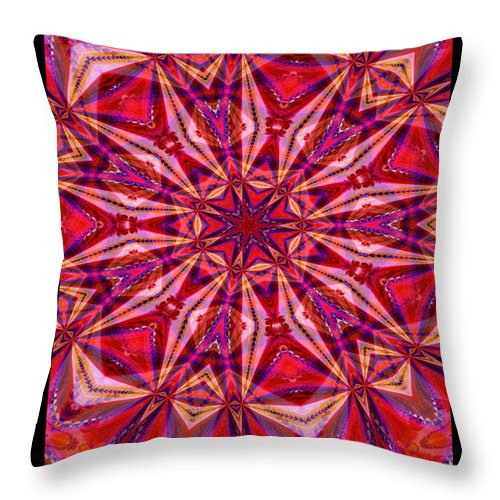 Fractal Throw Pillow featuring the digital art Pink Parfait by Charmaine Zoe