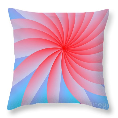 Abstract Throw Pillow featuring the digital art Pink Passion Flower by Michael Skinner