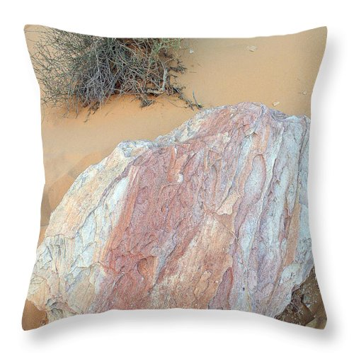 Rock Throw Pillow featuring the photograph Pink Rock by Mary Haber