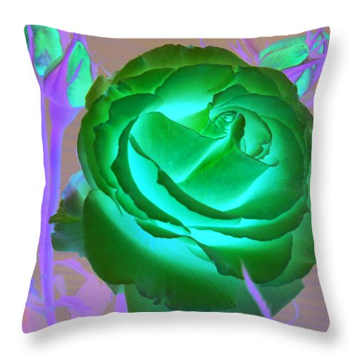 Rose Throw Pillow featuring the photograph Pink Rose by Mary Gaines