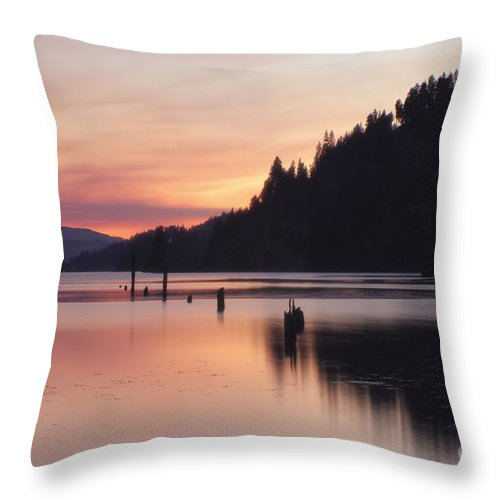 Serene Throw Pillow featuring the photograph Pink Serenity by Idaho Scenic Images Linda Lantzy