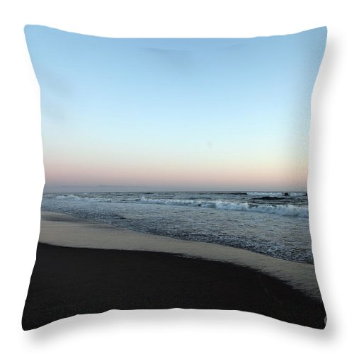 Beaches Throw Pillow featuring the photograph Pink Skyline by Amanda Barcon