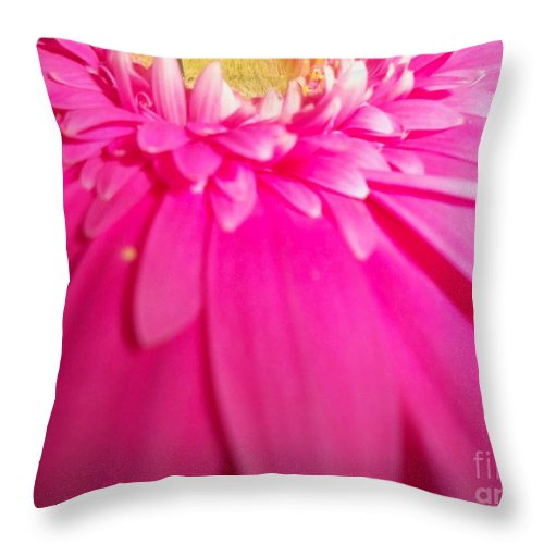 Pink Throw Pillow featuring the photograph Pink Splash by Cheryl Benson