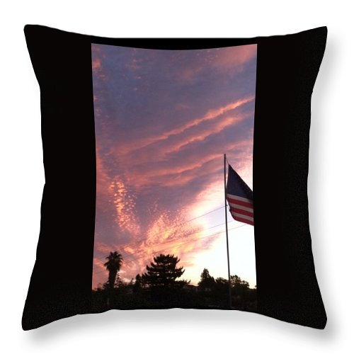 Sun Rise Throw Pillow featuring the photograph Pink Sun Rise by William Stover