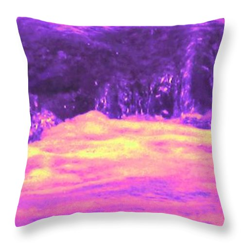 Seascape Throw Pillow featuring the photograph Pink Tidal Pool by Ian MacDonald