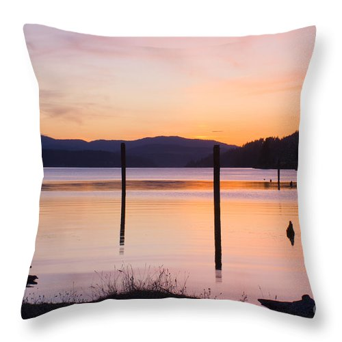 Pink Throw Pillow featuring the photograph Pink Tranquility by Idaho Scenic Images Linda Lantzy