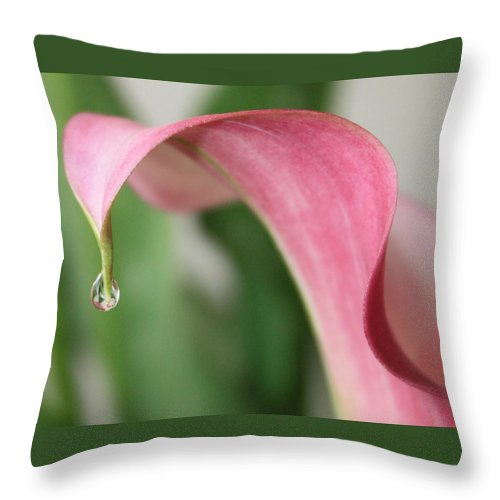 Pink Throw Pillow featuring the photograph Pink Wave by Carol Groenen