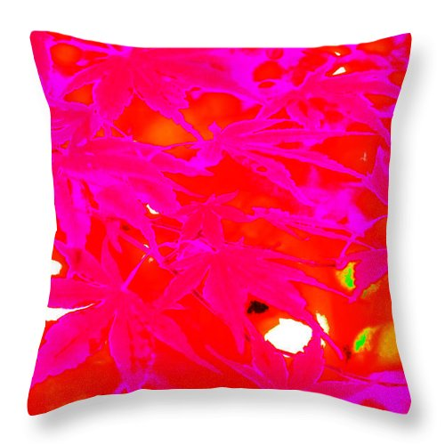 Trees Throw Pillow featuring the photograph Pinky Red by Gary Bartoloni