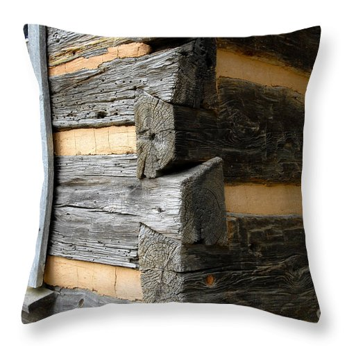 Cabin Throw Pillow featuring the photograph Pioneer Craftsmanship by David Lee Thompson