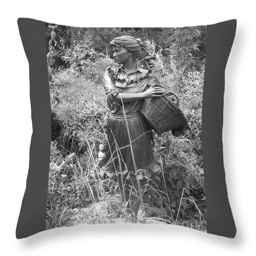 Woman Throw Pillow featuring the photograph Pioneer by Emily Young