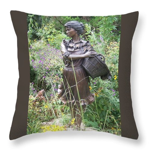 Lady Throw Pillow featuring the photograph Pioneer In Color by Emily Young
