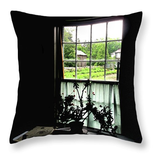 Old Throw Pillow featuring the photograph Pioneer Window by Ian MacDonald