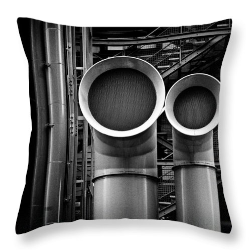Industry Throw Pillow featuring the photograph Pipes by Dave Bowman