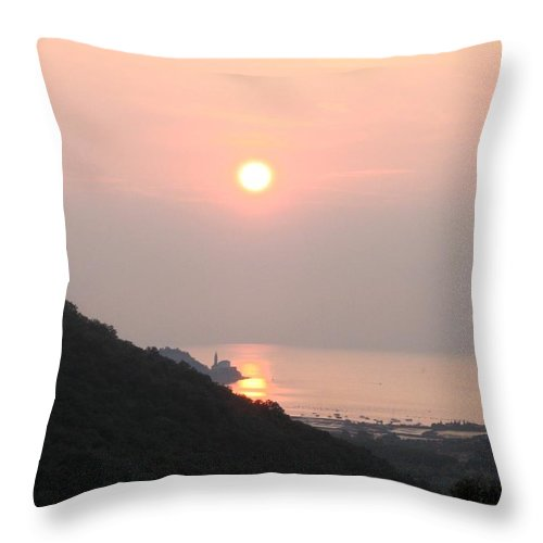 Sunset Throw Pillow featuring the photograph Piran's Sunset II by Dragica Micki Fortuna