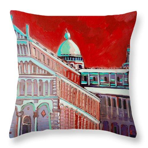 Pisa Throw Pillow featuring the painting Pisa by Kurt Hausmann