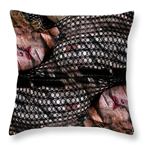 Cl;ay Throw Pillow featuring the photograph Pisces by Clayton Bruster