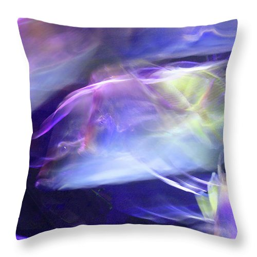 Abstract Throw Pillow featuring the photograph Pisces by Steve Karol