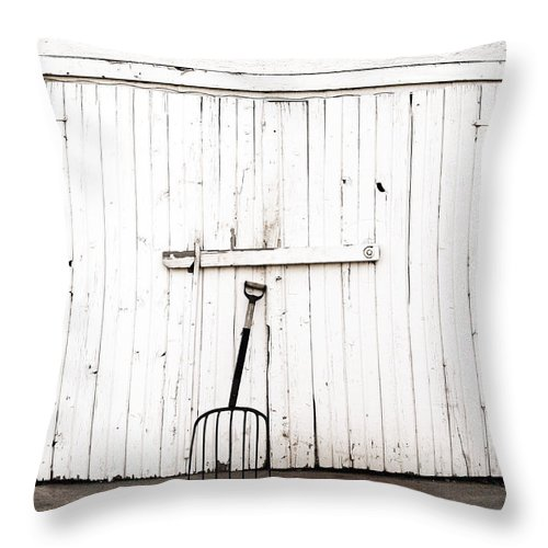 Americana Throw Pillow featuring the photograph Pitch Fork by Marilyn Hunt