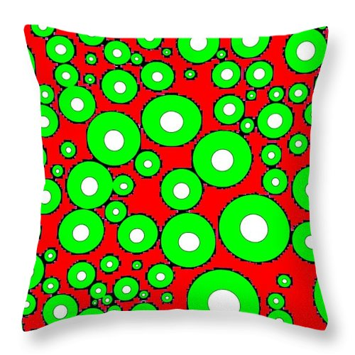 Abstract Throw Pillow featuring the digital art Pizzazz 5 by Will Borden