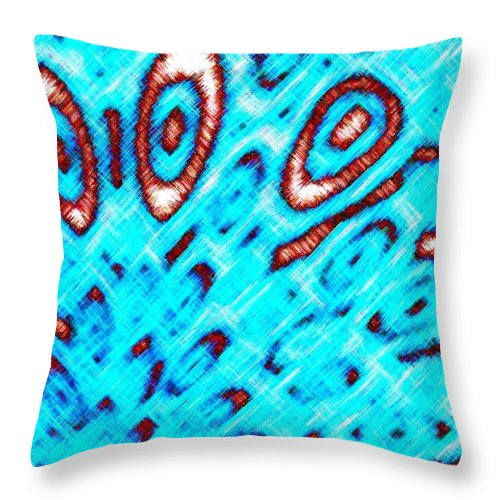 Abstract Throw Pillow featuring the digital art Pizzazz 6 by Will Borden