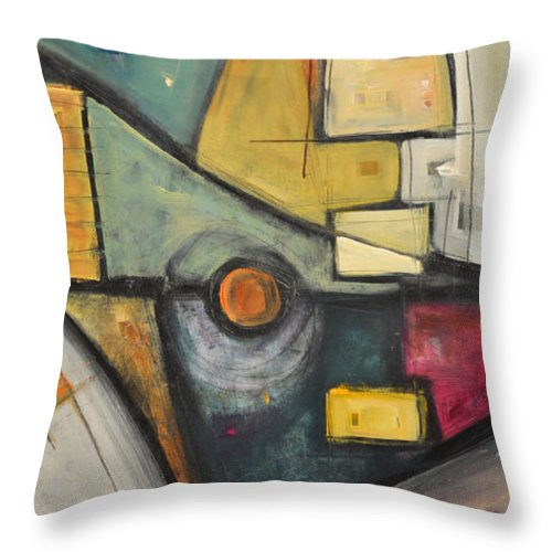 Planet Throw Pillow featuring the painting Planet Dada by Tim Nyberg