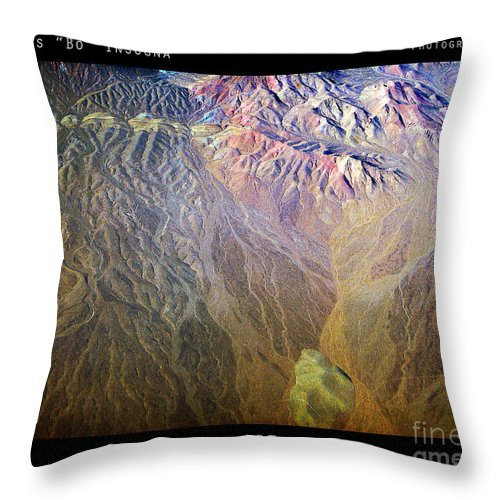 Abstract Throw Pillow featuring the photograph Planet Earth Seven by James BO Insogna